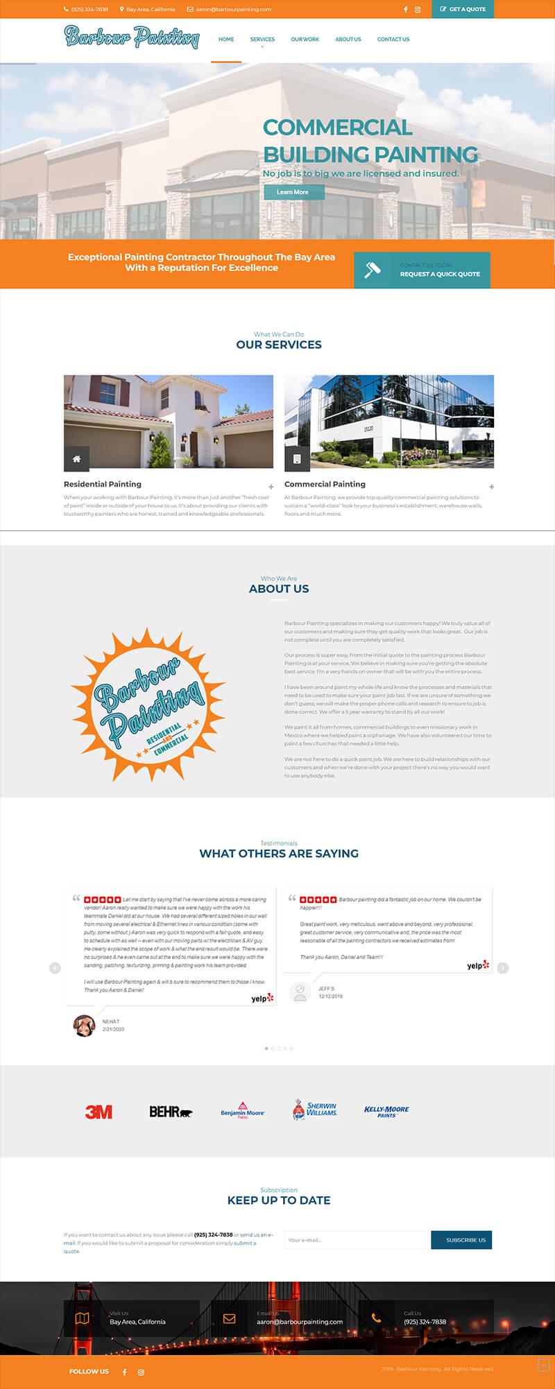 Painters Website Designer