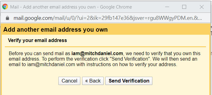 send email verification